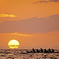 Canoeing At Sunset by Greg Vaughn - Printscapes