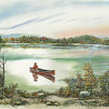 Canoeing On The Lake by Samuel Showman