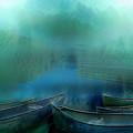 Canoes At Nightfall by Debra and Dave Vanderlaan