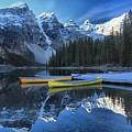 Canoes Under The Peaks by Adam Jewell