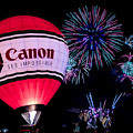 Canon - See Impossible - Hot Air Balloon With Fireworks by Ron Pate