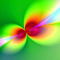 Canoodeling Neon Nodes Fractal by Elaine Plesser
