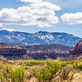 Canyon Badlands And Colorado Rockies Lanadscape by Alex Grichenko