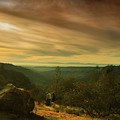 Canyon Trail At Sunset by Frank Wilson