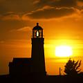 Cape Blanco Lighthouse Sunset 2 by Bob Christopher
