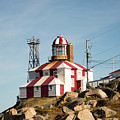 Cape Bonavista Lighthouse, Newfoundland, Canada Old And New Lamp by Karen Foley