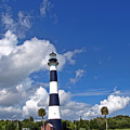 Cape Canaveral Light In Florida by Allan  Hughes