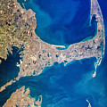 Cape Cod And Islands Spring 1997 View From Satellite by Matt Suess
