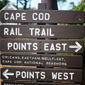 Cape Cod Rail Trail Sign Eastham by Toby McGuire