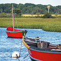 Cape Cod Red Boat Chatham Ma by Toby McGuire