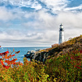 Cape Elizabeth Maine - Portland Head Lighthouse by Bill Cannon