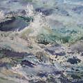 Cape Elizabeth Wave Breaks by Alicia Drakiotes