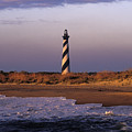 Cape Hatteras Lighthouse At Sunrise - Fs000606 by Daniel Dempster