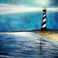 Cape Hatteras Lighthouse Night Glow by Patricia L Davidson