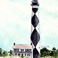 Cape Lookout Lighthouse Outer Banks North Carolina by Laura Row