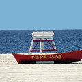 Cape May Lifeguard Station Boat by William Bitman