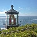 Cape Meares Lighthouse Oregon Coast. by Gino Rigucci