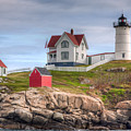 Cape Neddick Nubble Lighthouse I by Clarence Holmes