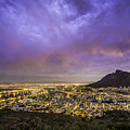 Cape Town From Signal Hill At Sunset by Simone Zanetti