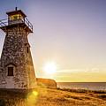 Cape Tryon Light Sunset by Chris Bordeleau