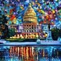 Capital At Night - Washington by Leonid Afremov