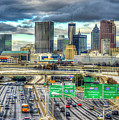 Capital Of The South Atlanta Skyline Cityscape Art by Reid Callaway