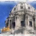 Capitol Dome St Paul Minnesota by Paulette B Wright