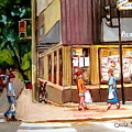Cappucino  Cafe At Beauty's Restaurant by Carole Spandau
