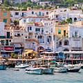 Capri Boat Harbor by Patti Schulze