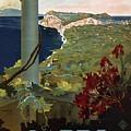Capri, Italia - Bay Of Naples, Italy - Retro Travel Poster - Vintage Poster by Studio Grafiikka