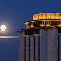 Capstone House And Full Moon by Charles Hite