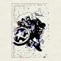 Captain America by Lora Battle