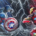Captain American Vs Ironman by Tyler Haddox