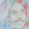 Captain Beefheart - Watercolor Portrait.6 by Fabrizio Cassetta