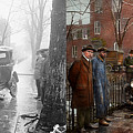 Car Accident - Watch For Ice 1921 - Side By Side by Mike Savad