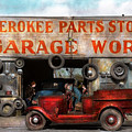 Car - Garage - Cherokee Parts Store - 1936 by Mike Savad