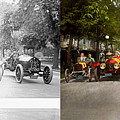 Car - Race - Hold On To Your Hats 1915 - Side By Side by Mike Savad