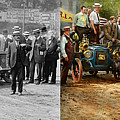 Car - Race - The End Of A Long Journey 1906 - Side By Side by Mike Savad