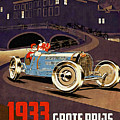 Car Racing Christmas Poster Of The 30s by Ian Gledhill