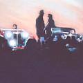 Car Rally At Sunset by Linda Crockett