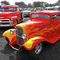 Car Show Fever - 54 Chevy With A 32 Ford Coupe Hot Rod by Gill Billington