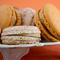 Caramel And Vanilla Macaroons by Milleflore Images