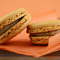 Caramel Orange Macarons by Milleflore Images
