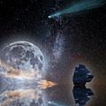 Caravel And Comet by Jose Antonio Lizana San Roman