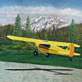 Carbon Cub Riverbank Takeoff by Douglas Castleman