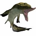 Carboniferous Edestus Shark by Corey Ford