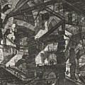 Carceri Series, Plate Xiv by Giovanni Battista Piranesi