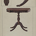 Card Table by Bessie Forman