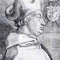 Cardinal Albrecht Of Brandenburg 1523 by Durer Albrecht