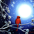 Cardinal On Christmas Eve by Laura Iverson